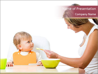 Baby Having Breakfast PowerPoint Template