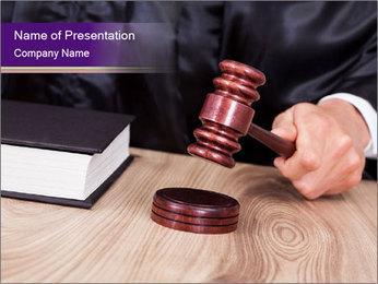 Legal Prosecution PowerPoint Template