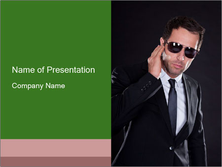 handsome italian man powerpoint template & backgrounds id, Modern powerpoint