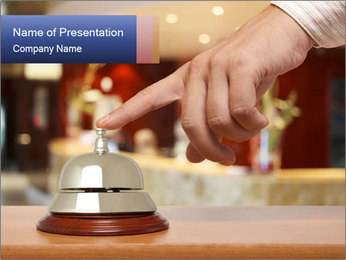 Ring at Hotel Reception PowerPoint Template