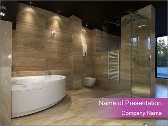 Elegant Bathroom Design PowerPoint Template