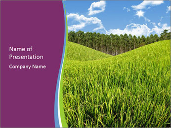 Nice Green Meadow PowerPoint Template