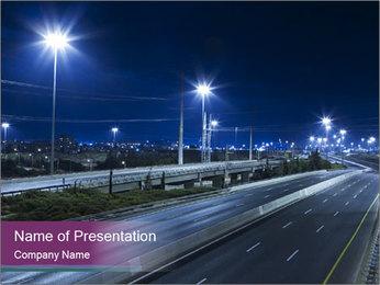 Illuminated Highway PowerPoint Template