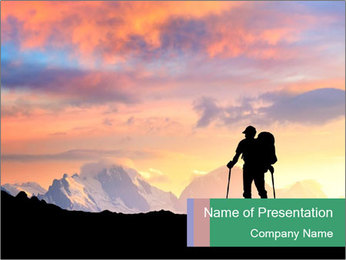 Hiking in Mountains PowerPoint Template