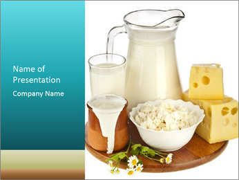 Pasteurized Milk Products PowerPoint Template