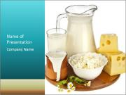 Pasteurized Milk Products PowerPoint Templates
