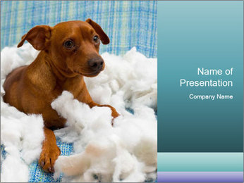 Playful Puppy PowerPoint Template