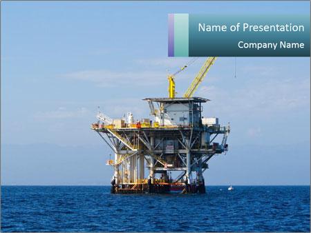 Oil rig drilling platform powerpoint template backgrounds id oil rig drilling platform powerpoint template toneelgroepblik Images