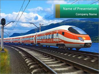 Modern Train PowerPoint Template