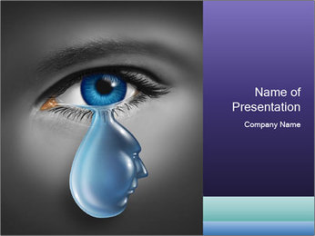Tear Drop PowerPoint Template