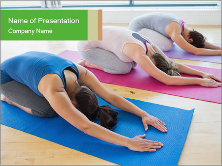 Yoga group class powerpoint template backgrounds google slides yoga group class powerpoint template toneelgroepblik Images