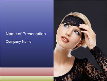 Woman Wearing Black Clothes Sjablonen PowerPoint presentatie