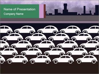 Illustrated Traffic Jam Modèles des présentations  PowerPoint