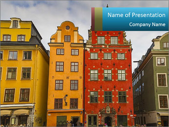 Traditional Houses in Sweden PowerPoint Template