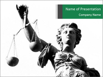 Well-Known Justice Statue PowerPoint Template