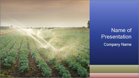 green farm land powerpoint template backgrounds google slides