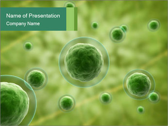 Green Molecules PowerPoint Template
