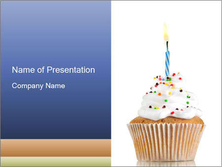 birthday cupcake powerpoint template backgrounds id 0000032941. Black Bedroom Furniture Sets. Home Design Ideas
