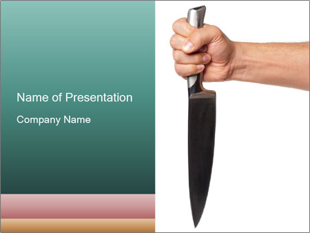 Kitchen knife powerpoint template backgrounds google slides id kitchen knife powerpoint template toneelgroepblik Choice Image