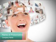 Woman and Digital Pictures Шаблоны презентаций PowerPoint