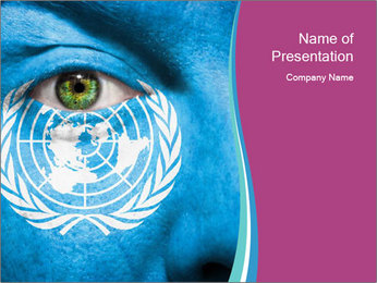 Symbol of United Nations PowerPoint Template