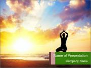 Morning Yoga Practice PowerPoint Templates