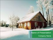 Magic Winter Season In The Countryside PowerPoint Templates
