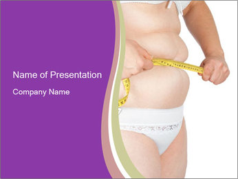 Woman Suffering From Obesity PowerPoint Template