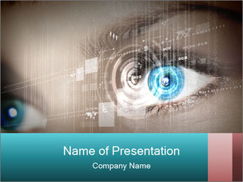 Eye Scanning PowerPoint Template