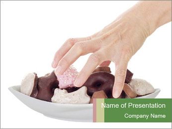 Addicted To Sweets PowerPoint Template
