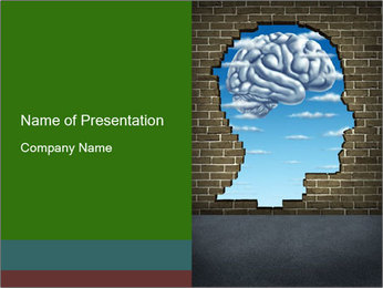 Head Shaped Hole PowerPoint Template
