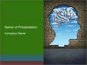Head Shaped Hole PowerPoint Templates