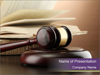 Crime Court PowerPoint Template