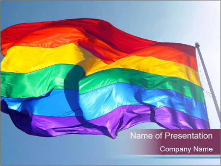 Rainbow Flag PowerPoint Template & Backgrounds ID 0000033122 ...