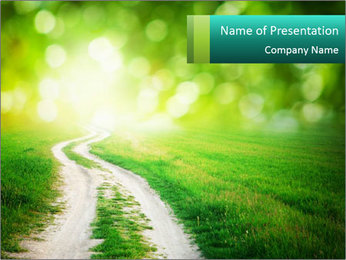 Green Road PowerPoint Template