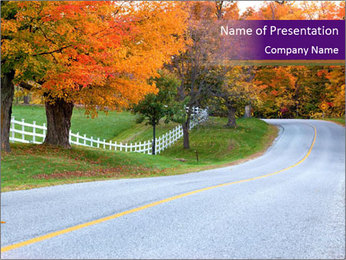 Beautiful country road PowerPoint Template