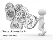 Man With Mechanism PowerPoint Templates