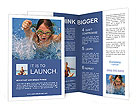 Young Girl Swimming Brochure Templates