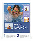 Young Girl Swimming Flyer Templates