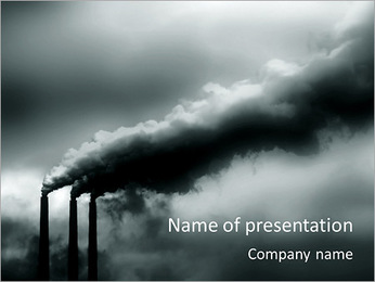 Industry Pollution PowerPoint Template