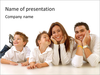 Whole Family Together PowerPoint Template
