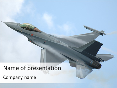 air force powerpoint template & backgrounds id 0000004024, Modern powerpoint