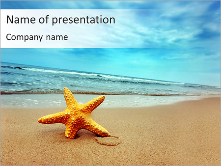 Beach and starfish powerpoint template backgrounds id 0000004029 beach and starfish powerpoint templates toneelgroepblik Choice Image