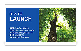Leafage Of Tree Business Card Template