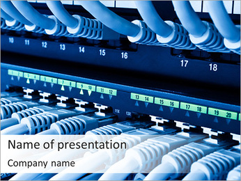 Computer Server PowerPoint Template