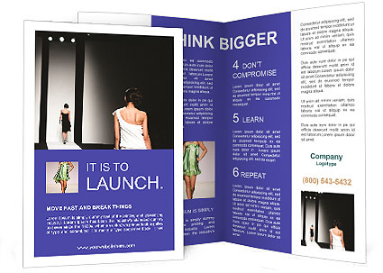 Fashion show brochure template design id 0000004034 for Fashion brochure templates