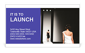 Fashion Show Business Card Templates