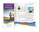 Family Trip To Village Brochure Templates
