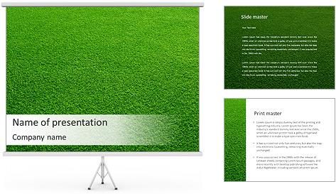 Herbe Surface Modèles des présentations  PowerPoint
