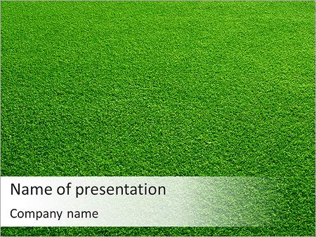 grass surface powerpoint template